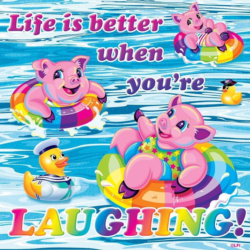 Cartoon - Lifeis better when you're LAUGHING OLFI