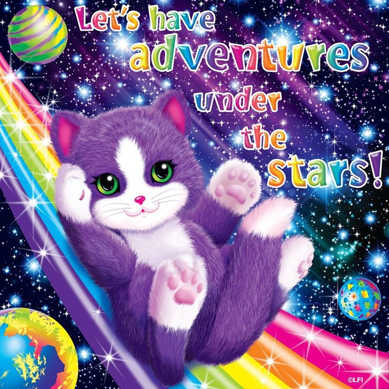 Cat - Let's have adventures. Under dhe stars! OLFI