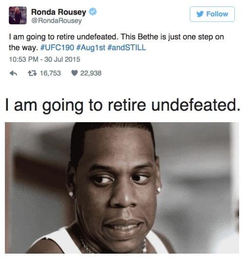 funny memes ronda rousey undefeated awkward tweet