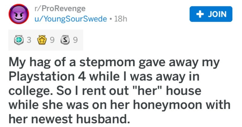 reddit post about getting revenge on evil stepmom