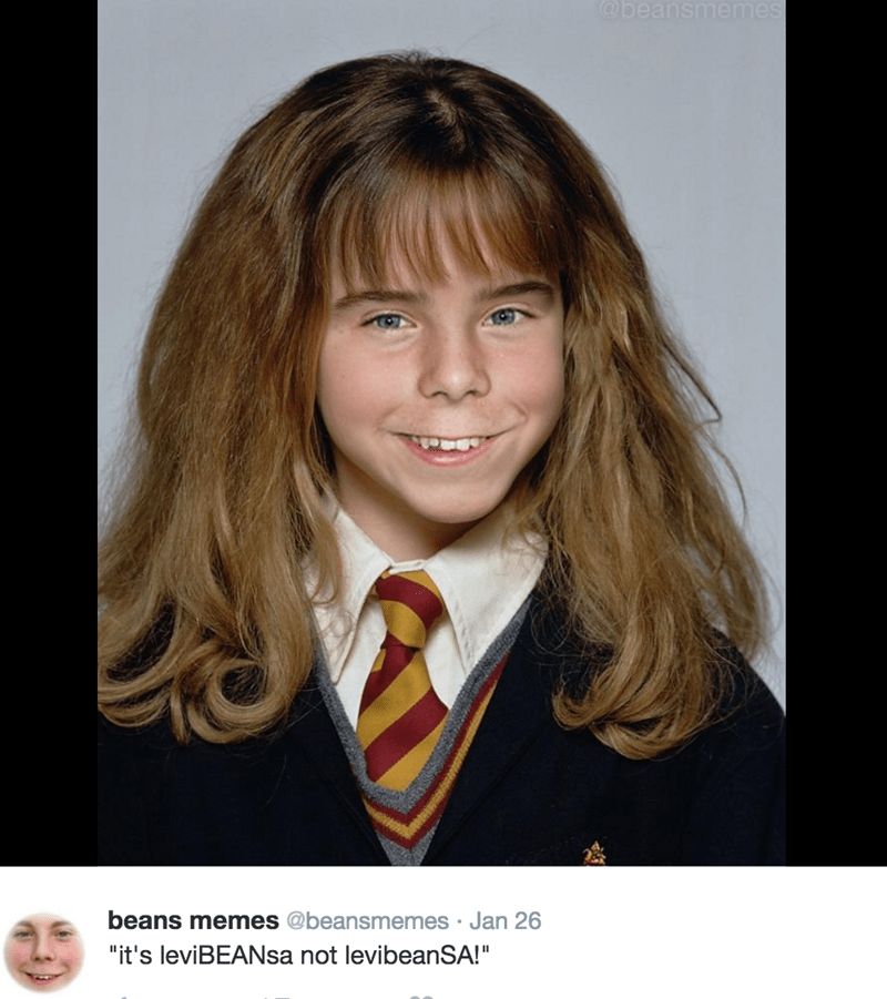 Beans Memes photoshop with Hermione Granger