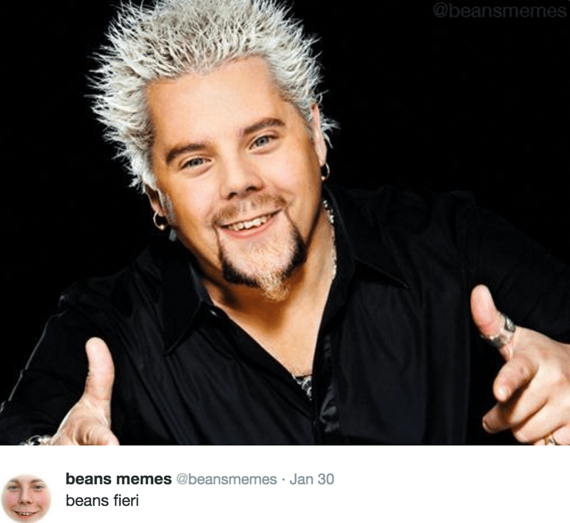 Beans Memes photoshop with Guy Fieri