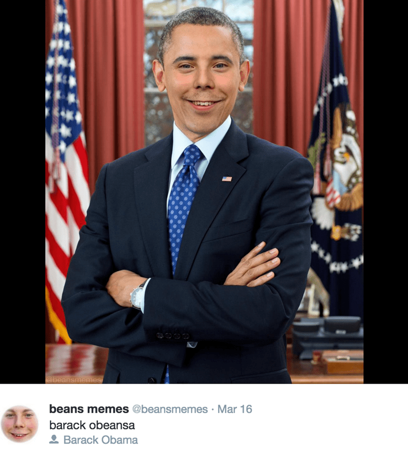 Beans Memes photoshop with Obama