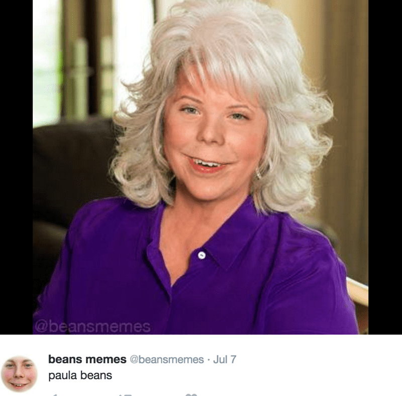 Beans Memes photoshop with Paula Deen