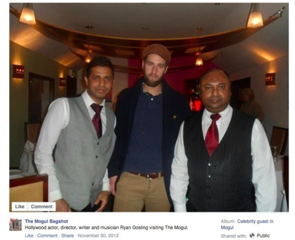 Event - Like Comment The Mogul Bagshot Hollywood actor, director, writer and musician Ryan Gosling visiting The Mogul. Like Comment Share November 30, 2013 Album: Celebrity guest in Mogul Public Shared with: