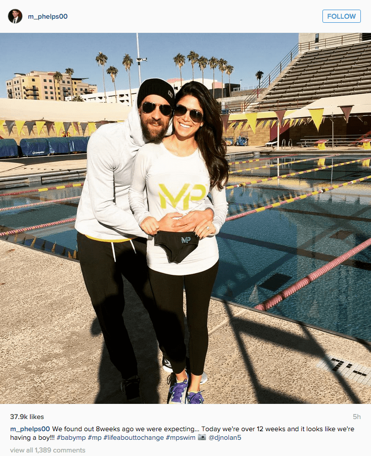 Michael phelps and Fiancée share news that they are having a baby boy