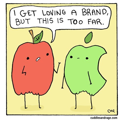 apple web comics puns This Apple is a Real Fan Boy