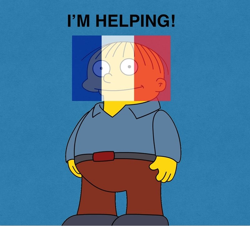ralph wiggum im helping france