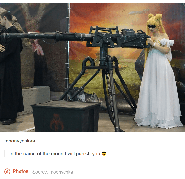 guns,cosplay,anime,sailor moon