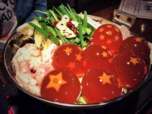 dragon ball z hot pot dinner japan