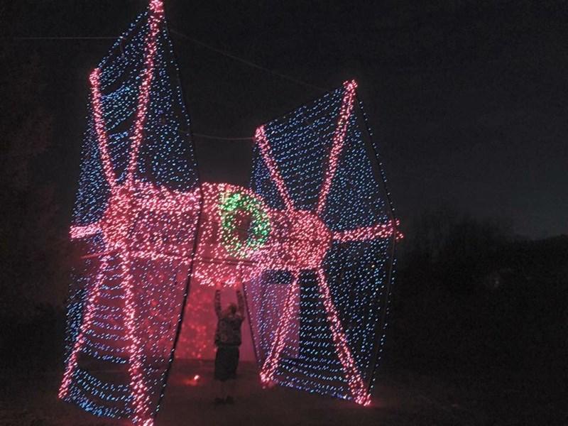 star wars tie fighter christmas lights