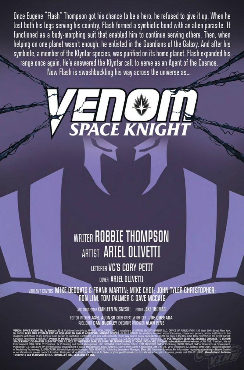 comics venom space knight New Logo for Space Knight Venom