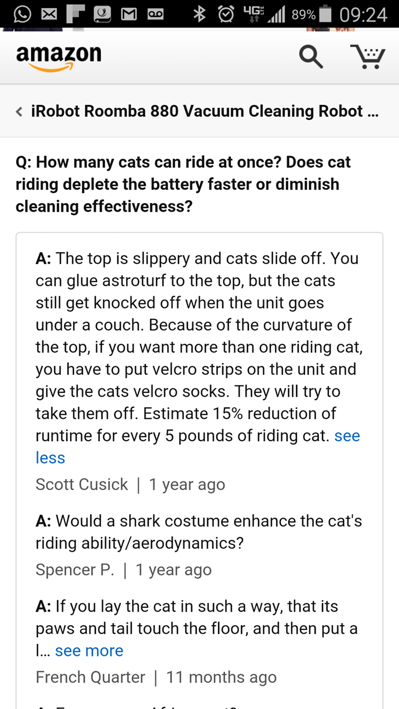 funny memes cat roomba amazon question