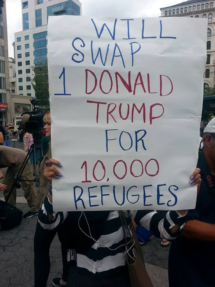 funny memes swap trump for refugees