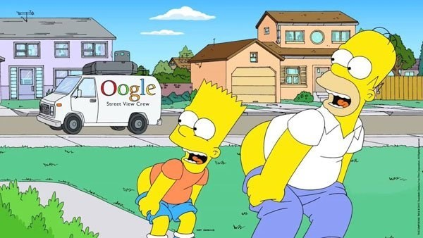 the simpsons street view google - 8586894080