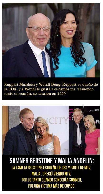 Rupert Murdoch y Wendi Deng