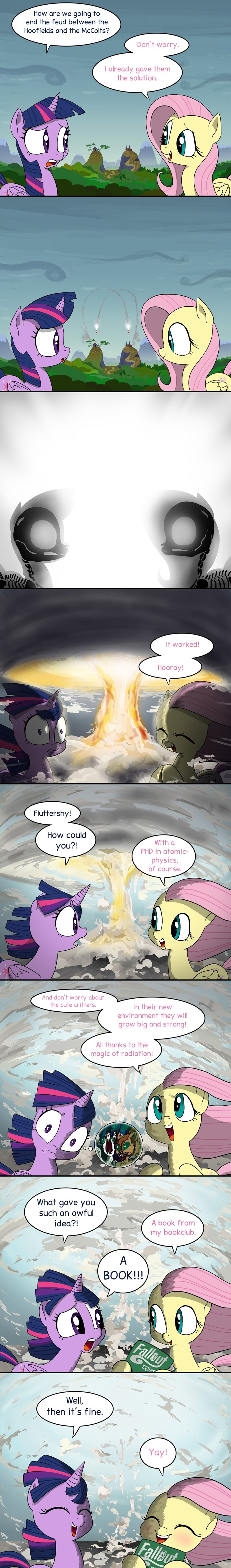 the hooffields and mccolts fallout twilight sparkle fallout equestria fluttershy - 8587054336