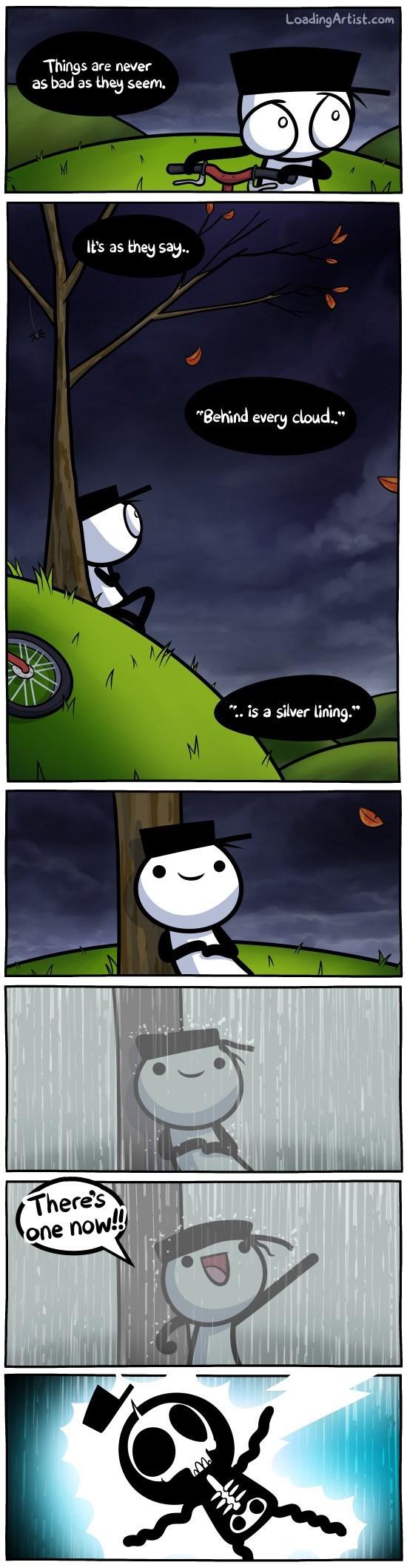 web comics optimism This Silver Lining Hurts