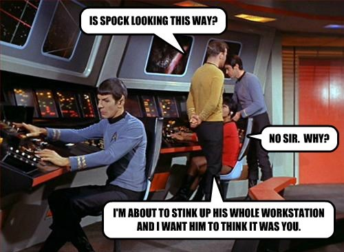 IS SPOCK LOOKING THIS WAY?