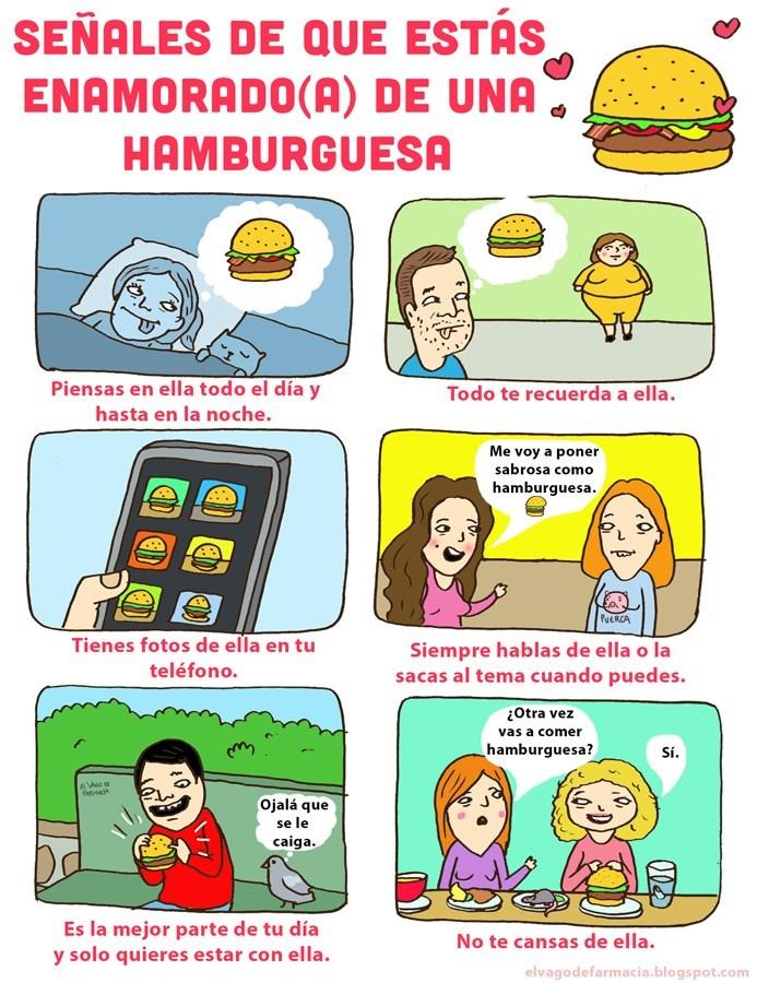 amor de hamburguesa