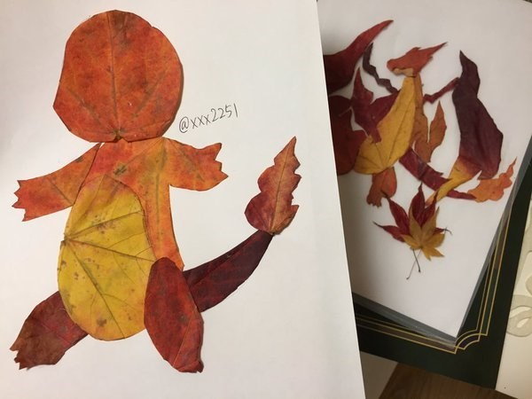pokemon memes charmander eevee made of leaves