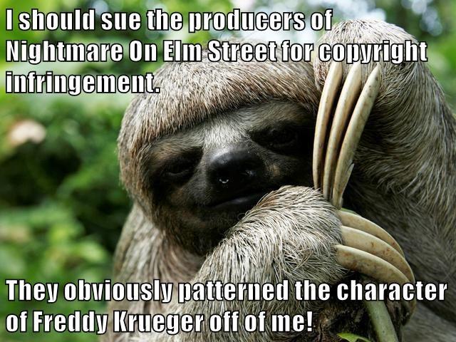 animals freddy krueger scary movie funny animals sloth - 8587173888