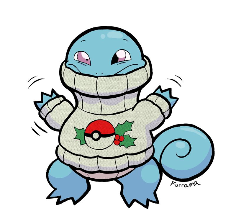 cute christmas squirtle - 8587246080