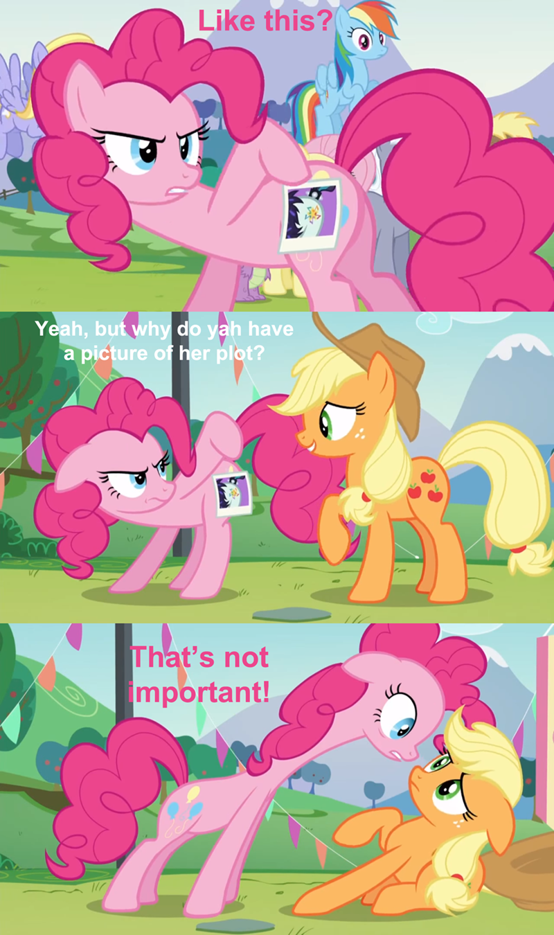 applejack pinkie pie dat plot - 8587404544