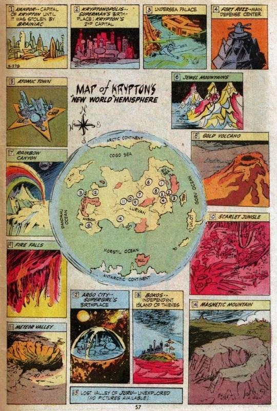 superman image map Map of Krypton