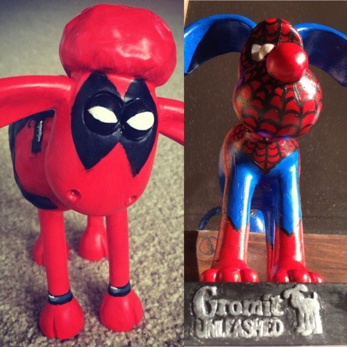 spider man deadpool Spider-Man Gromit and Deadpool Shaun the Sheep