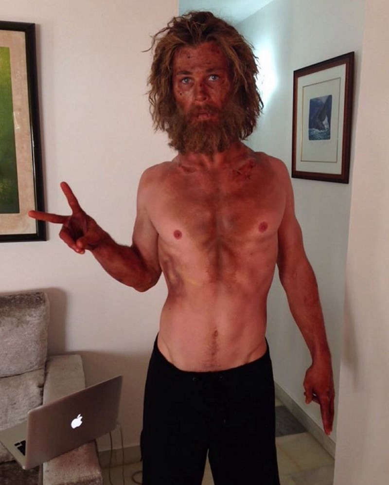 chris hemsworth movie image Transformation of the Day: Chris Hemsworth Loses His Bodybuilder Physique for His Film 'In the Heart of the Sea'