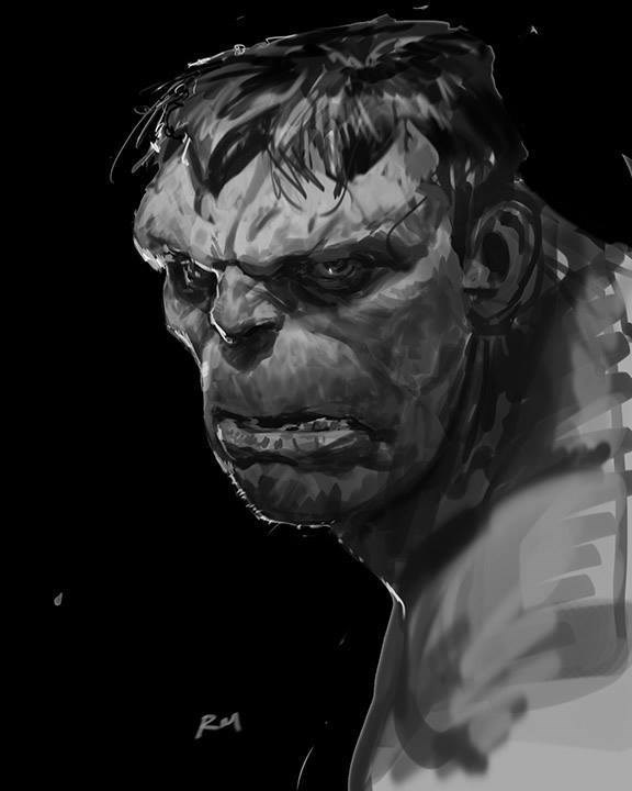 superheroes art The Very First Face of the Hulk