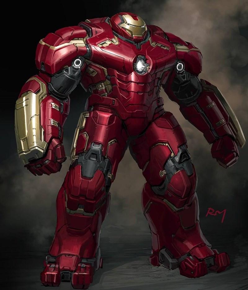 hulk iron man art An Unused Version of the Hulkbuster