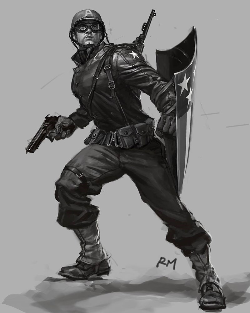 captain america image One of the First Captain America Sketches Circa 2008
