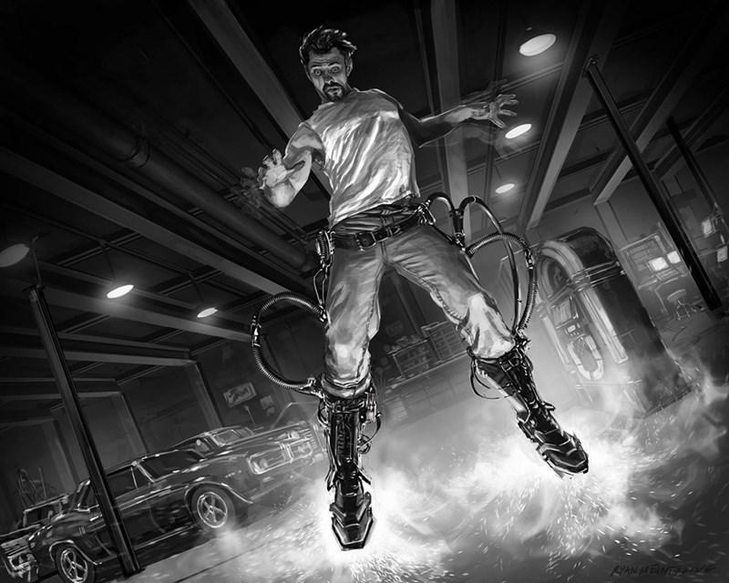 iron man image art Iron Man Keyframe Sketch That Inspired the Boot Testing Scene