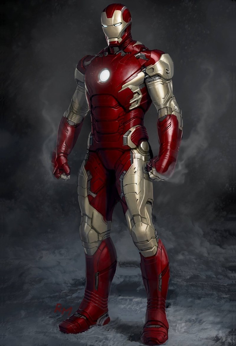 iron man art image Unused Version of the Mark 45 From the End of Age of Ultron