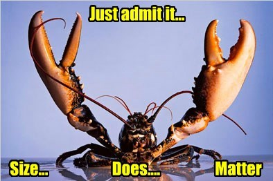 lobster,size matters,claws