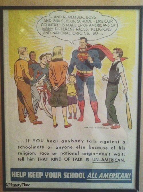 america superman image 1950's Superman Gets It
