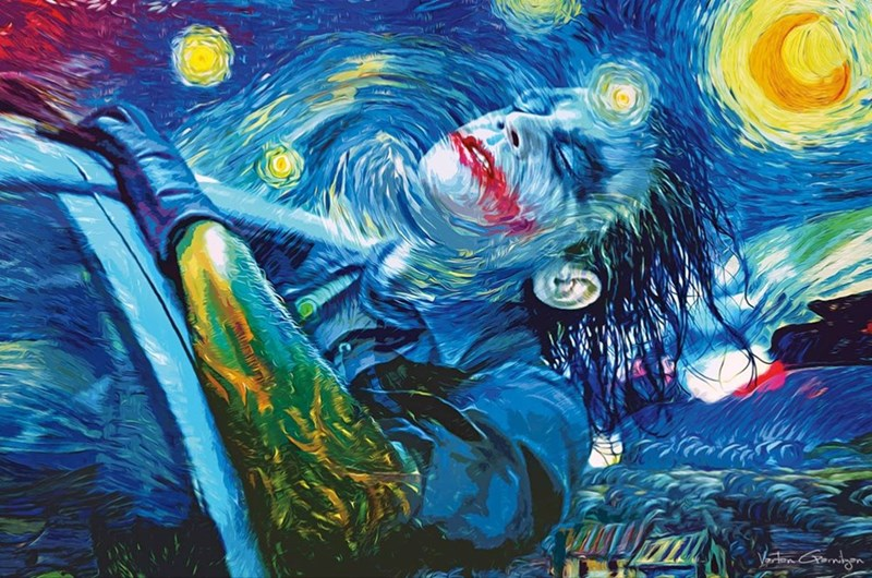 fan art joker starry night Why So Sirius?