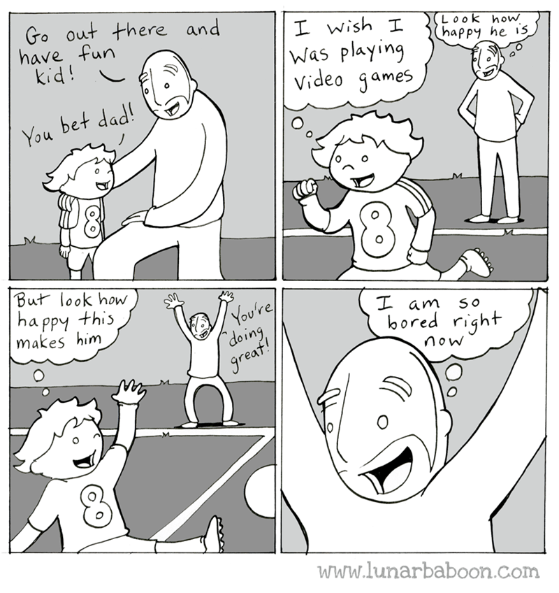 web comics parenting sports Go Sports!