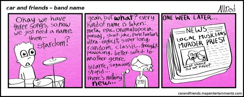 web comics band names Not a Bad Decision