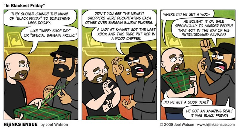 web comics black friday We Shop for the Glory of Battle