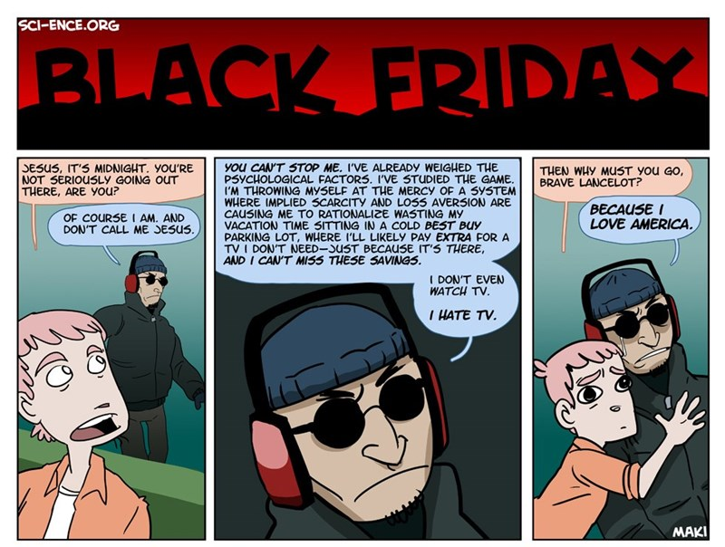 web comics black friday Time to Do Your Duty