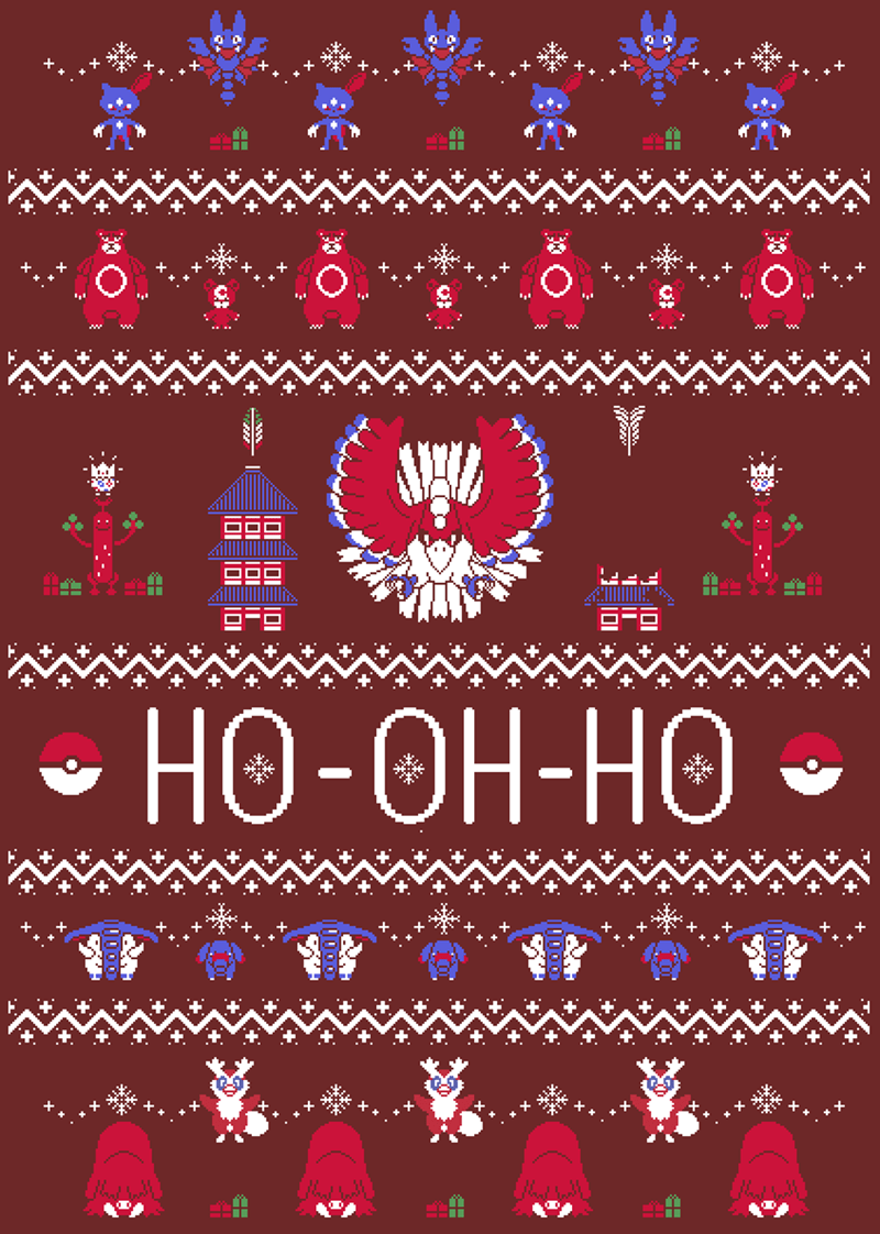 pokemon memes ho oh christmas sweater
