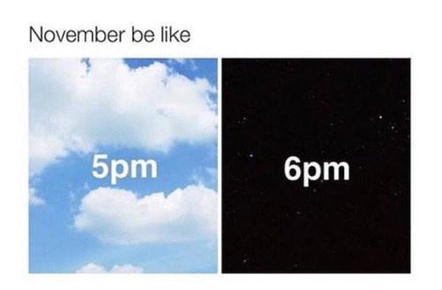 funny memes november be like