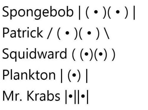 funny memes ascii spongebob