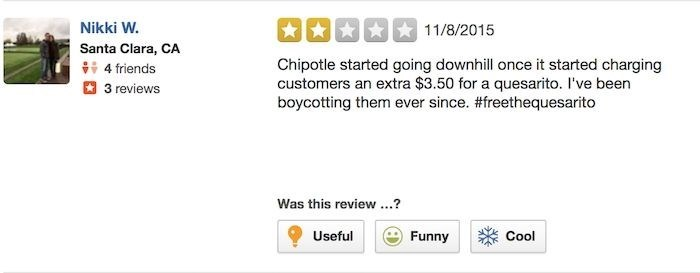 chipotle reviews Nikki W. Wants Her Life Hacks to Be Free