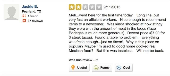 chipotle review Jackie's Just Going to Stick With Home Cooked Mexican Food From Now On