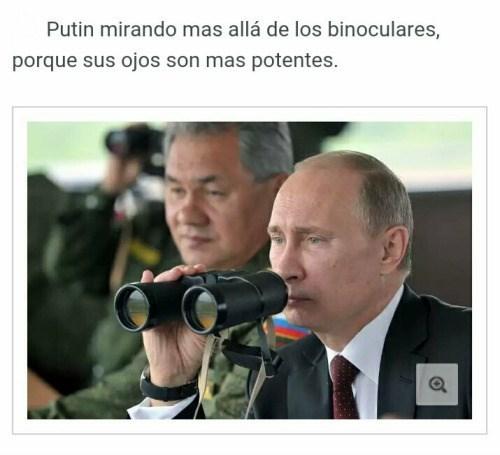 putin y los binoculares