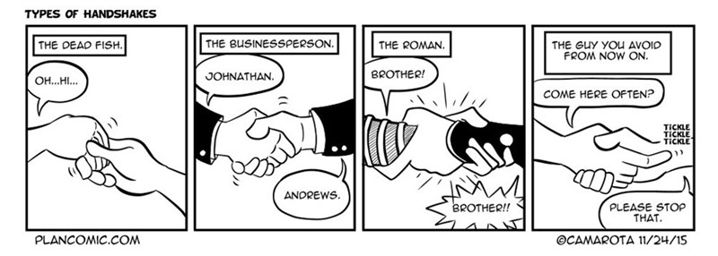 web comics handshake Your Handshake Needs to Be Firm, and Also Not Weird